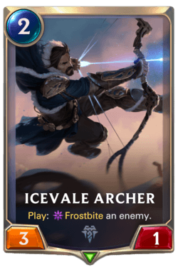 Champions et cartes Legends of Runeterra Freljord Guide Icevale Archer