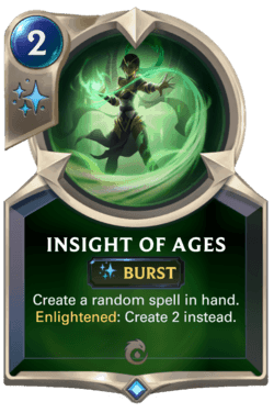 Wiki Guide Carte Legends of Runeterra Ionia Insight of ages