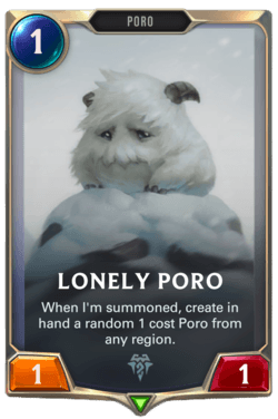 Champions et cartes Legends of Runeterra Freljord Guide Lonely Poro