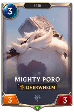 Champions et cartes Legends of Runeterra Freljord Guide Mighty Poro
