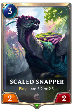 Wiki Guide Champions et Cartes Legends of Runeterra Ionia Scaled Snapper