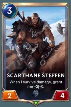 Champions et cartes Legends of Runeterra Freljord Guide Scarthane Steffen