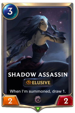 Wiki Guide Champions et Cartes Legends of Runeterra Ionia Shadow Assassin