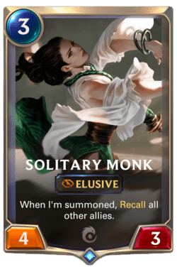 Wiki Guide Champions et Cartes Legends of Runeterra Ionia Solitary Monk
