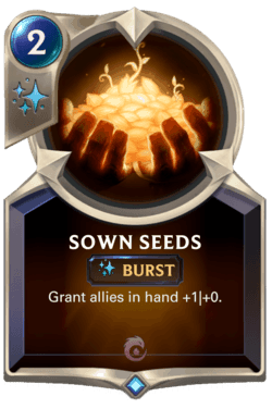 Wiki Guide Champions et Cartes Legends of Runeterra Ionia Sown Seeds