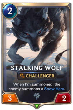 Champions et cartes Legends of Runeterra Freljord Guide Stalking Wolf