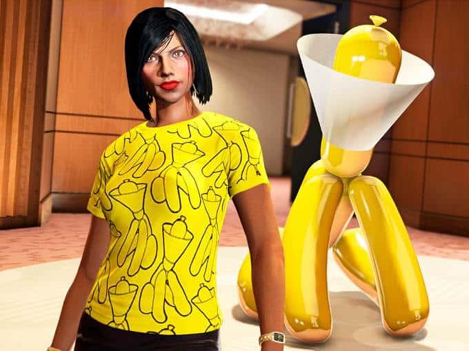 Statue Chien jaune à collerette GTA Online Braquage Diamond Casino - GTA 5
