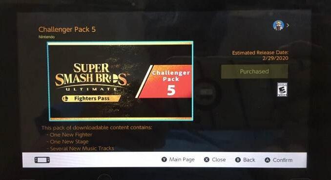 Super Smash Bros Ultimate DLC Pass 5 Le 5ème combattant arrivera fin février