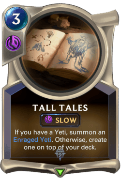 Champions et cartes Legends of Runeterra Freljord Guide Tall Tales