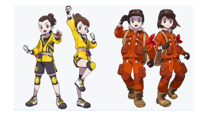 Tenue de base d'entrainement Premier DLC Pokémon épée et bouclier