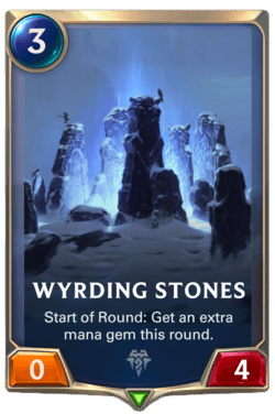 Champions et cartes Legends of Runeterra Freljord Guide Wyrding Stones