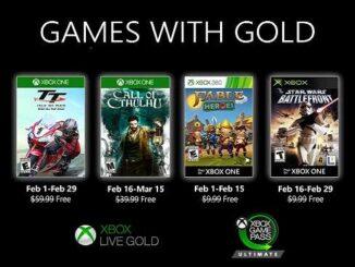 Xbox Live Gold pour Février 2020 Nouveaux jeux Xbox gratuits annoncés