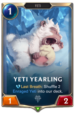 Champions et cartes Legends of Runeterra Freljord Guide Yeti Rearling