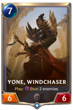 Yone Windchaser Wiki Guide Champions et Cartes Legends of Runeterra Ionia