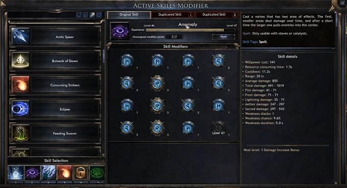 Arbre compétences Wolcen Lords of Mayhem guide