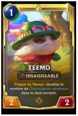 Cartes LoR champion Teemo - legends-of-runeterra