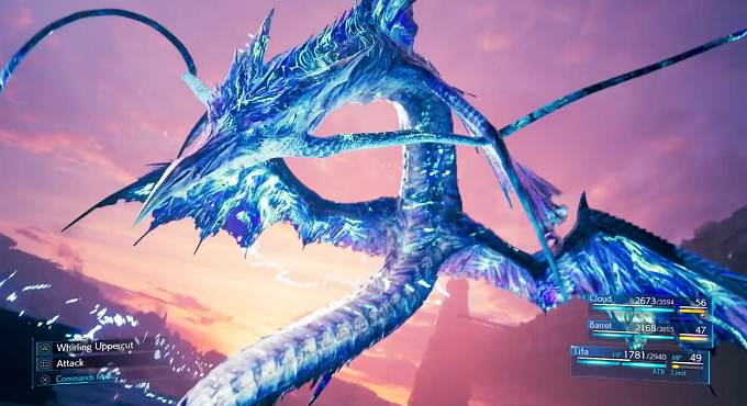 Leviathan Final Fantasy 7 Remake invocations FF7R