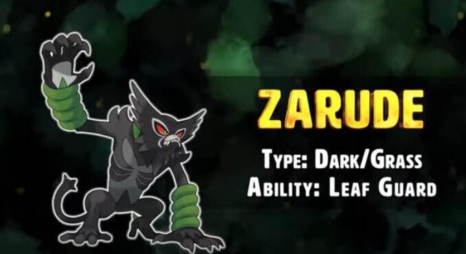 Pokémon Épée et bouclier Zarude : Type, capacités et statistiques