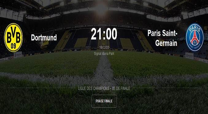 paris saint germain vs dortmund match direct 18 février 2020