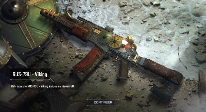 Call of Duty Mobile Saison 4 - skins d'armes RUS-79U Viking
