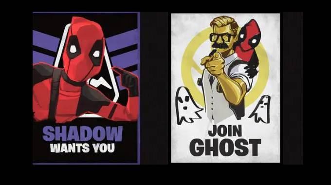 Fortnite Dégrader 3 affiches de recrutement du Fantôme ou de l'Ombre Soluce et guide