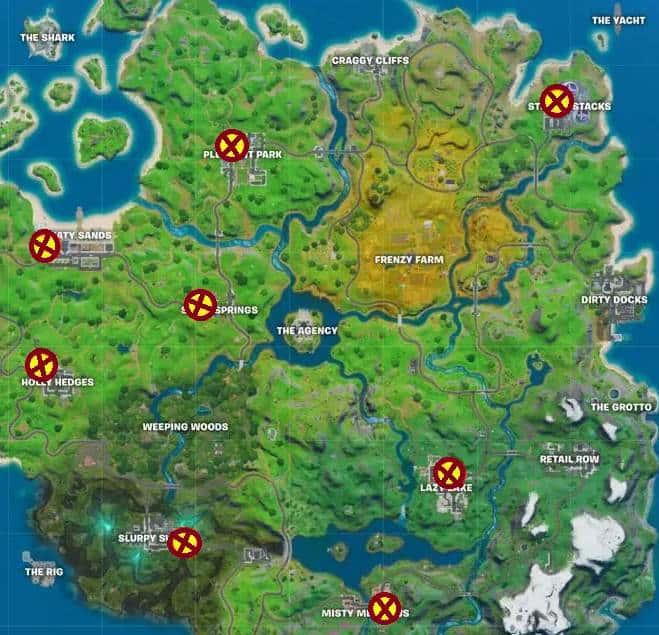 Guide Mission fantôme de Fortnite Meowscles Emplacement boîtes aux lettres fantômes