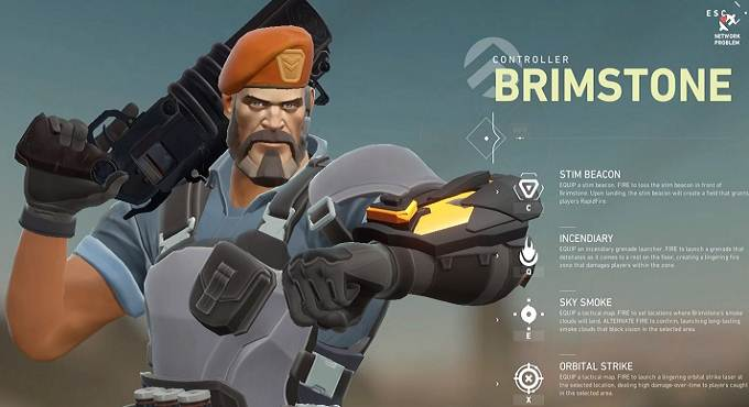 Brimstone Agent dans The Valorant guide PC 2020