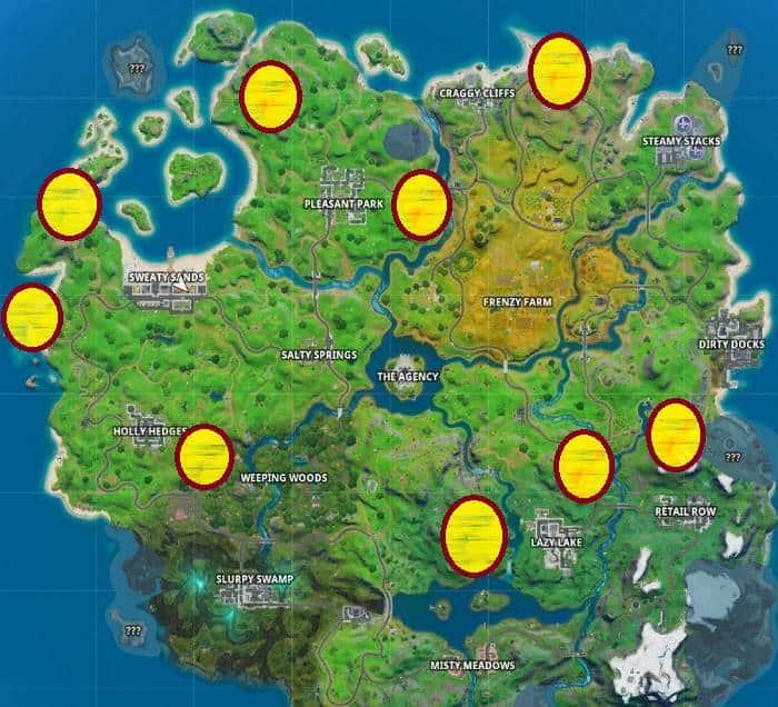 Emplacement épée de Skye plantée dans la pierre Aventure de Skye, Fortnite Chapitre 2 saison 2 Guide