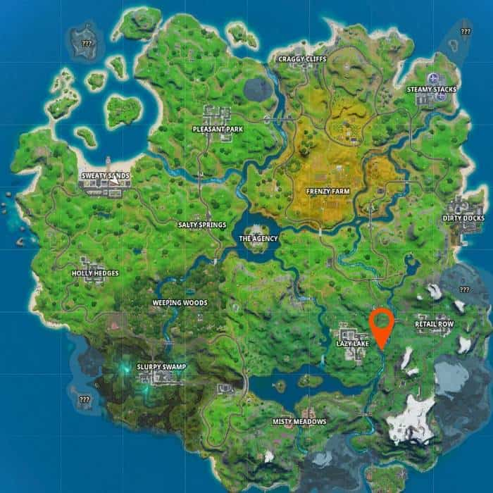 Emplacement du Fortnite Rapid's Rest Guide