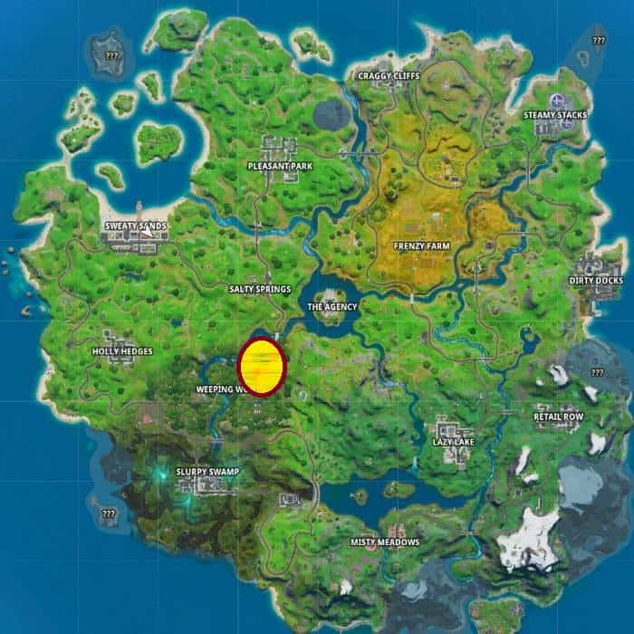 Guide Mission finale de Fortnite Skye: trouver Shadow Ollie à Weeping Woods