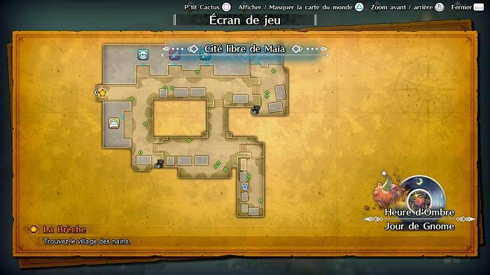 Guide de tous les emplacements P'tit Cactus dans Trials of Mana - Cité libre de Maïa