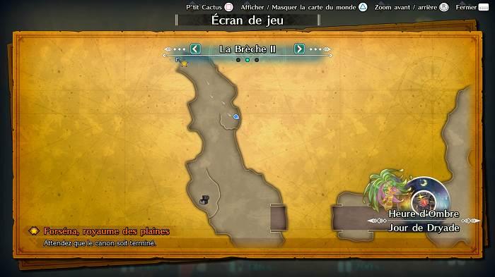 Où trouver P'tit Cactus dans Trials of Mana - La Brèche 2
