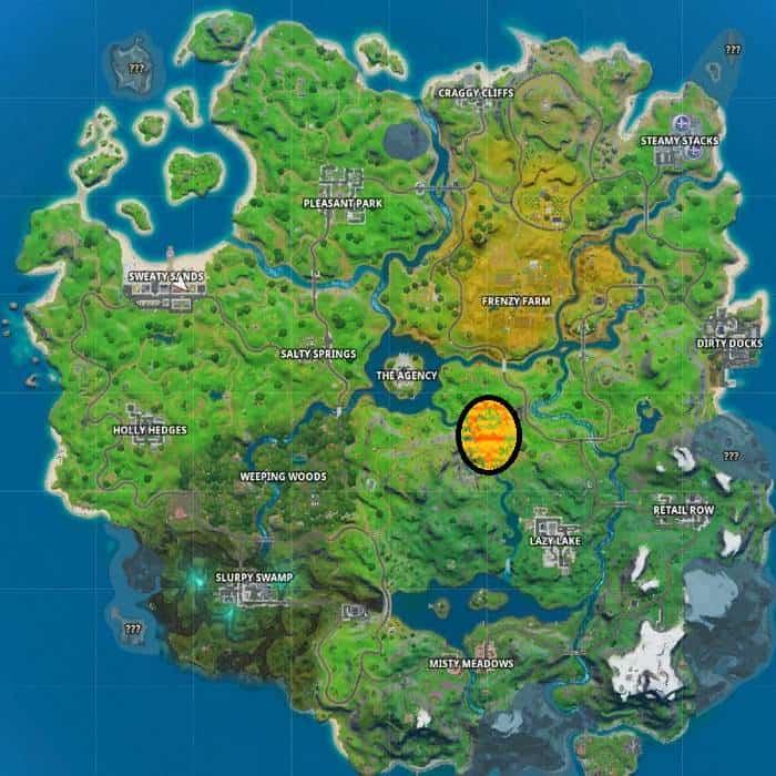 Guide Fortnite Où trouver les gorges magnifiques de Fortnite sur la carte