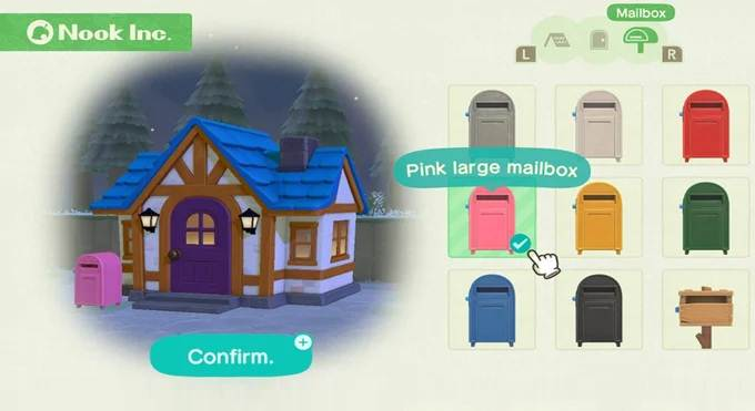 Personnaliser Boîte aux lettres dans Animal Crossing New Horizons Soluce