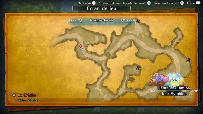 Guide de tous les emplacements  de P'tit Cactus dans Trials of Mana