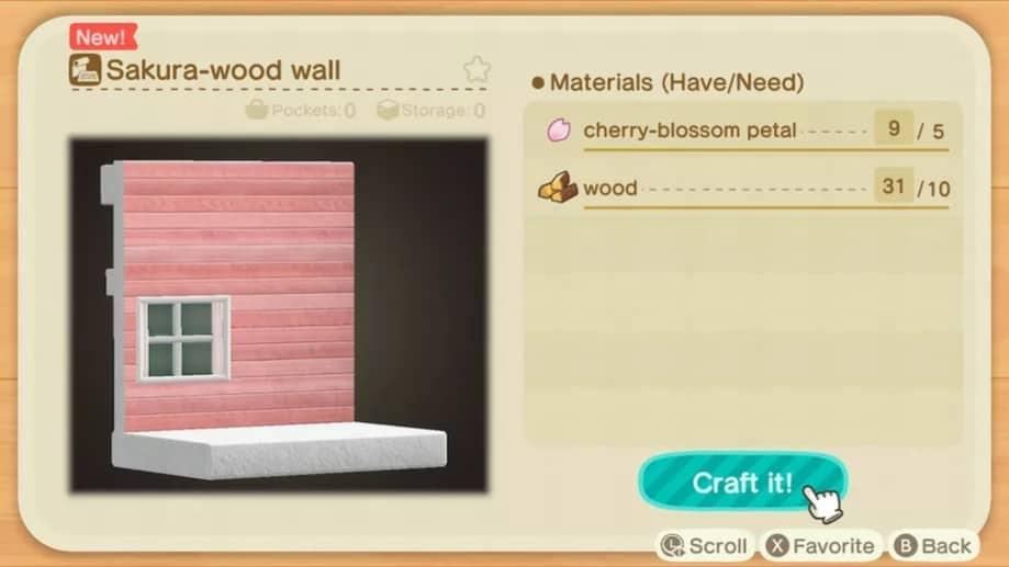 Fleur de cerisier dans Animal Crossing: New Horizons Soluce complète