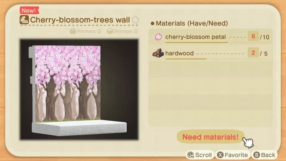 Trouver Fleur de cerisier dans Animal Crossing: New Horizons Guide