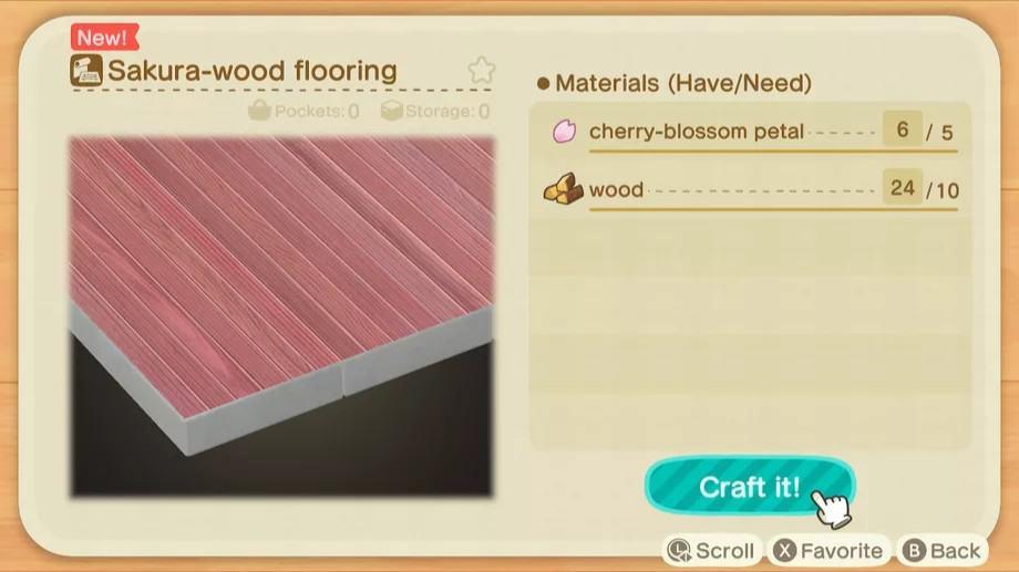Fleur de cerisier dans Animal Crossing: New Horizons Guide