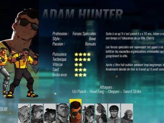 Adam Hunter Personnages Streets of Rage 4 Guide