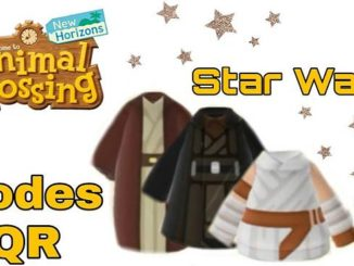 Animal Crossing New Horizons Codes vêtements personnalisés Star Wars