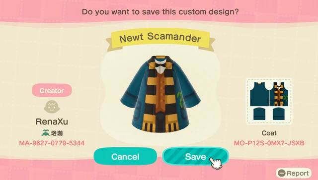 Animal Crossing New Horizons.jpg QR Codes vêtements Harry Potter