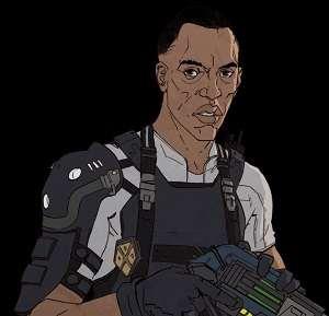 Blueblood - Gunslinger Human - héros XCOM Chimera Squad - Liste des personnages Squad