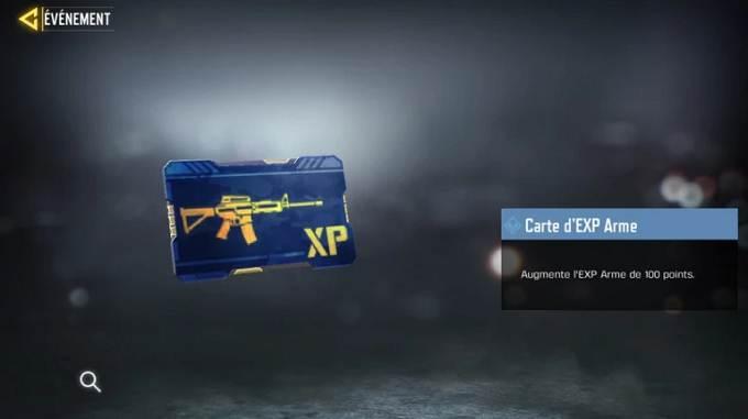 Carte d'xp d'arme bleue - CoD Mobile, saison 6 Mission Camp d'entraînement Soluce complète