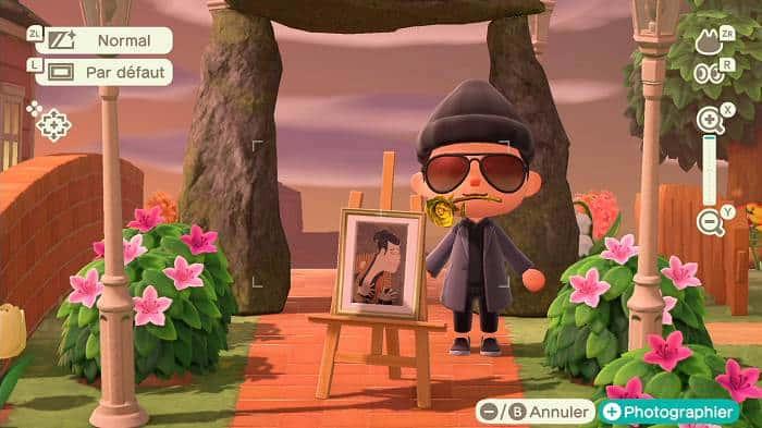 Contrefaçons de tableaux dans Animal Crossing New Horizons - gracieuse