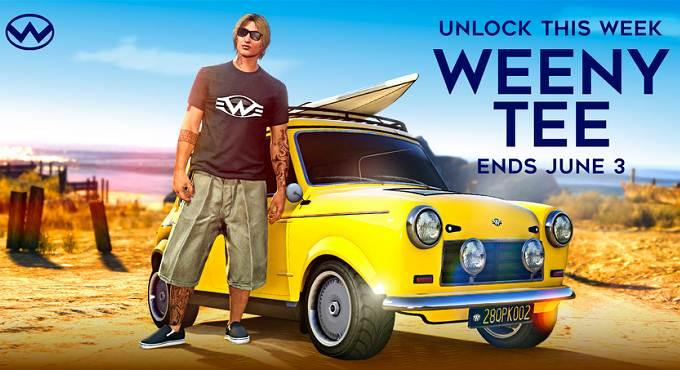 Débloquer t-shirt Weeny gratuit dans GTA Online / GTA 5