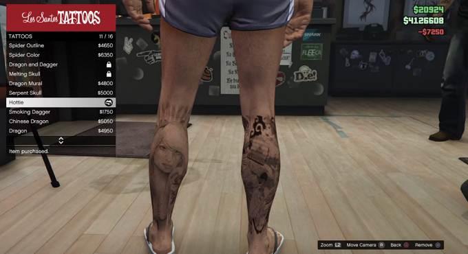 Débloquer GTA Online Hottie Tattoo - Guide GTA 5, GTA 6