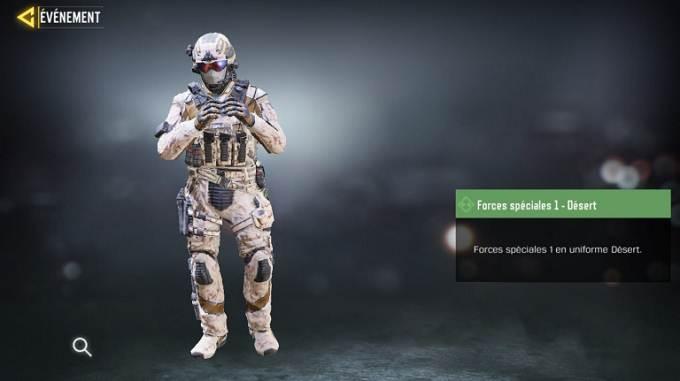 Force spéciales 1 Désert CoD Mobile, saison 6 Mission Surveillance et destruction Guide