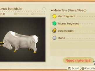 Fragments de Taureau dans Animal Crossing New Horizons - Fragments d'étoiles du Zodiaque