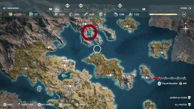 Pirate's Life for Me - Elle qui contrôle la mer - Xenia AC Odyssey Guide