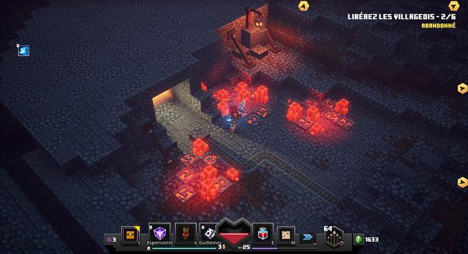 Rune 5 - Mines de Redstone - Minecraft Dungeons Soltion complète